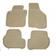 Covorase Presuri Auto Bej din Cauciuc pentru SEAT Leon 1P (2005-2013) SKODA Octavia II (2004-2013) VW Golf 5 Golf 6 (2003-2013) Jetta V (2005-2010) Sc