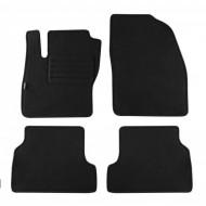 Set 4 covorase auto din mocheta, negru, pentru pentru FORD Focus 11/2004-02/2011, Focus Turnier 2005-04/2011-