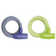 MASTERLOCK Cablu 8212EURDPRO bicicleta, otel imbracat in vinil culori pastelate, inchidere cu cheie,