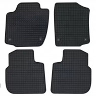 Covorase Presuri Auto Negru din Cauciuc SEAT Toledo (2013-2018) pentru SKODA Rapid (2012-) pentru SKODA Rapid Spaceback