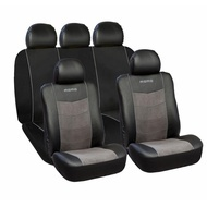 Huse scaune auto premium Momo din Piele Ecologica si Alcantara, 11 bucati