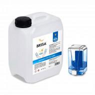 Igienizant pentru maini si dispenser Brisa, 70% alcool, 5 litri