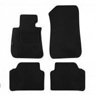Set 4 covorase auto din mocheta, negru, pentru BMW 3er (E90) Limousine 2005-01/2012, 3er (E91) Touring 2005-08/2012-