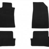 Set 4 covorase auto din mocheta, negru, pentru pentru RENAULT Clio 10/2005-10/2012, Clio Collection 2013-