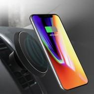Suport auto magnetic pentru telefon Rogroup, cu incarcare wireless