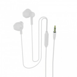 Casti In-EAR Stereo cu Jack 3.5mm si Microfon, Alb, PM-0053