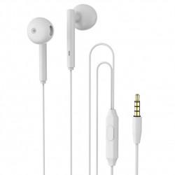 Casti In-EAR Stereo cu Jack 3.5mm si Microfon, Alb, PM-0054