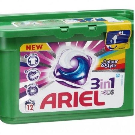 Detergent capsule 12/cutie 3 in 1 Color  Ariel