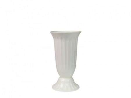 Vaza plastic alba bordura -30cm