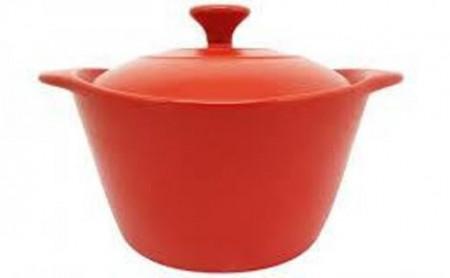 Vas ceramic cu capac ceramic 20.5 cm