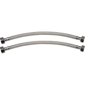 Set 2 racorduri flexibile cu invelis din cauciuc 1/2-60cm