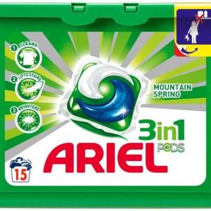 Detergent capsule 15/cutie 3 in 1 pods verzi Ariel