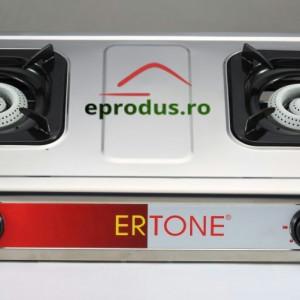 Aragaz inox 2 ochiuri Ertone