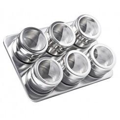 Set condimente cu suport magnetic Grunberg