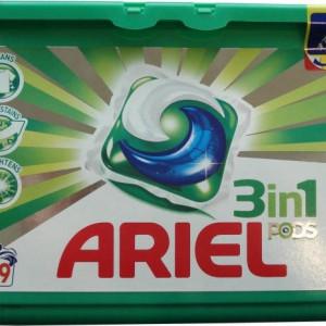 Detergent capsule 39/buc 3 in 1 pods verzi Ariel