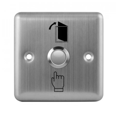 Buton de iesire incastrabil, din inox, E-LOCKS