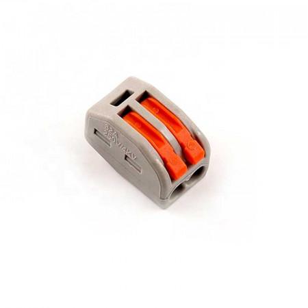Set 10 bucati conectori pentru conductori electrici, E-LOCKS, tip WAGO, 2 pini, plastic