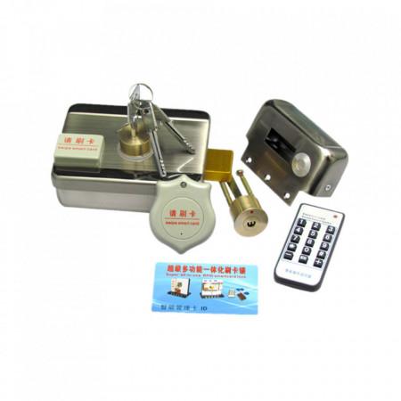 Yala (incuietoare) electromagnetica din inox, cu motor, cu acces RFID, electric si cu cheie