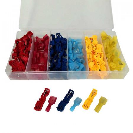 Set 120 bucati Conectori pentru conductori electrici tip T, E-LOCKS, plastic, multicolor