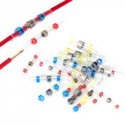 Set 50 bucati Conectori termocontractibili, E-LOCKS, cu lipire si etansare pentru conductori electrici