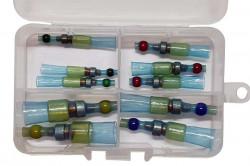 Set 20 morsete termocontractibile, cu spirala de cupru si lipire cu cositor, E-LOCKS, multicolor, diametru 3,3 - 9,0 mm