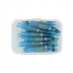 Set 20 morsete termocontractibile, cu spirala de cupru si lipire cu cositor, E-LOCKS, verzi, diametru 3,3 mm