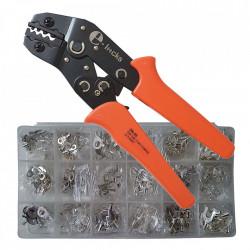 Set cleste pentru sertizare E-LOCKS, SN-06 si 420 bucati terminale neizolate pentru conductori