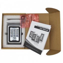 Unitate control acces din metal E-LOCKS, standalone si Wiegand, anti vandalism, cu tastatura si cititor RFID