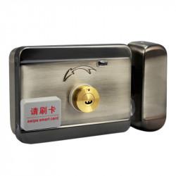 Yala (incuietoare) electromagnetica din inox E-LOCKS, cu telecomanda, cu motor, cu acces RFID, electric si cu cheie