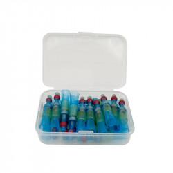 Set 20 morsete termocontractibile, cu spirala de cupru si lipire cu cositor, E-LOCKS, rosii, diametru 4,5 mm