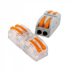 Set 11 bucati Conectori pentru conductori electrici, E-LOCKS, tip WAGO, 4, 5 si 6 pini, plastic