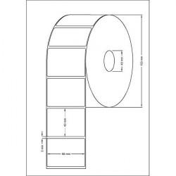 Etichete termice 58x43 mm / 1000 bucati pe rola