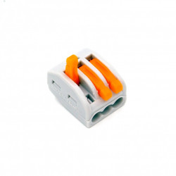 Set 10 bucati Conectori pentru conductori electrici, E-LOCKS, tip WAGO, 3 pini, plastic