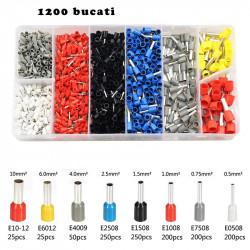 Set 1200 buc pini terminali izolati pentru conductori electrici 0,50 - 10 mm²
