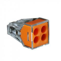 Set 71 bucati Conectori push-in pentru conductori electrici, E-LOCKS, 2, 4, 6 si 8 pini, plastic