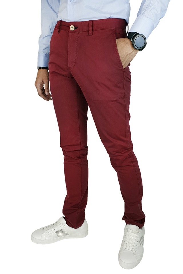 Pantaloni Casual Slim Carmin