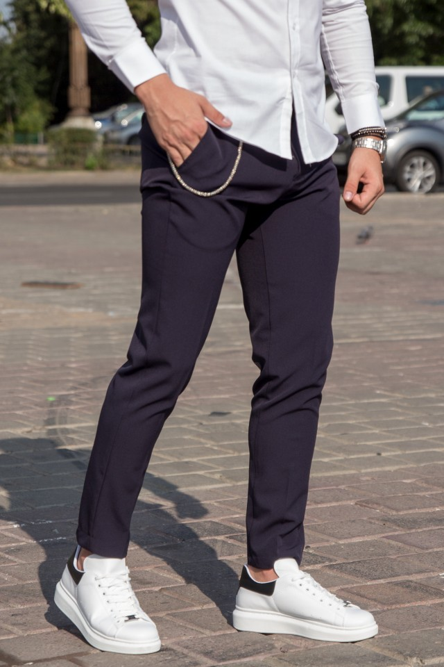 Pantaloni Smart-Casual New Age Navy