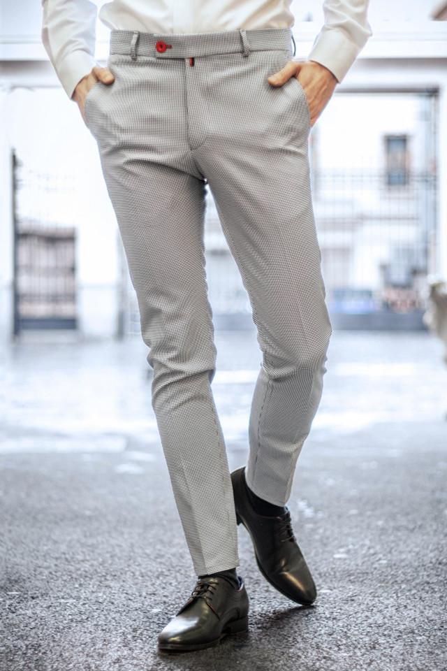 Pantaloni Eleganti Mansfield Alb & Negru