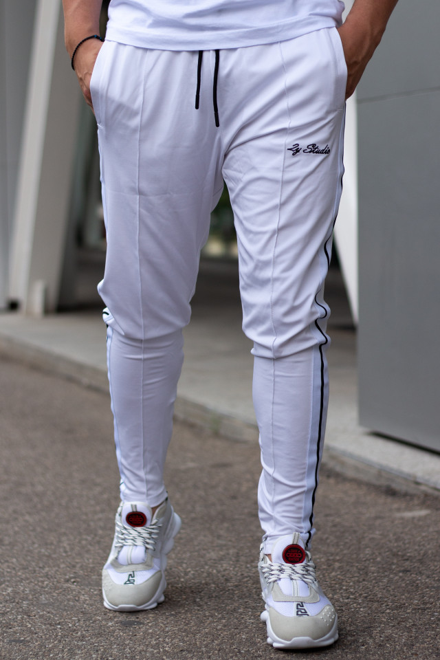 Pantaloni 2Y Border Alb