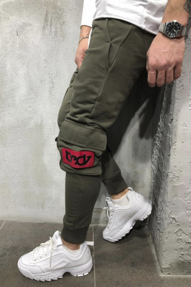 Pantaloni Bad7 Slim Kaki