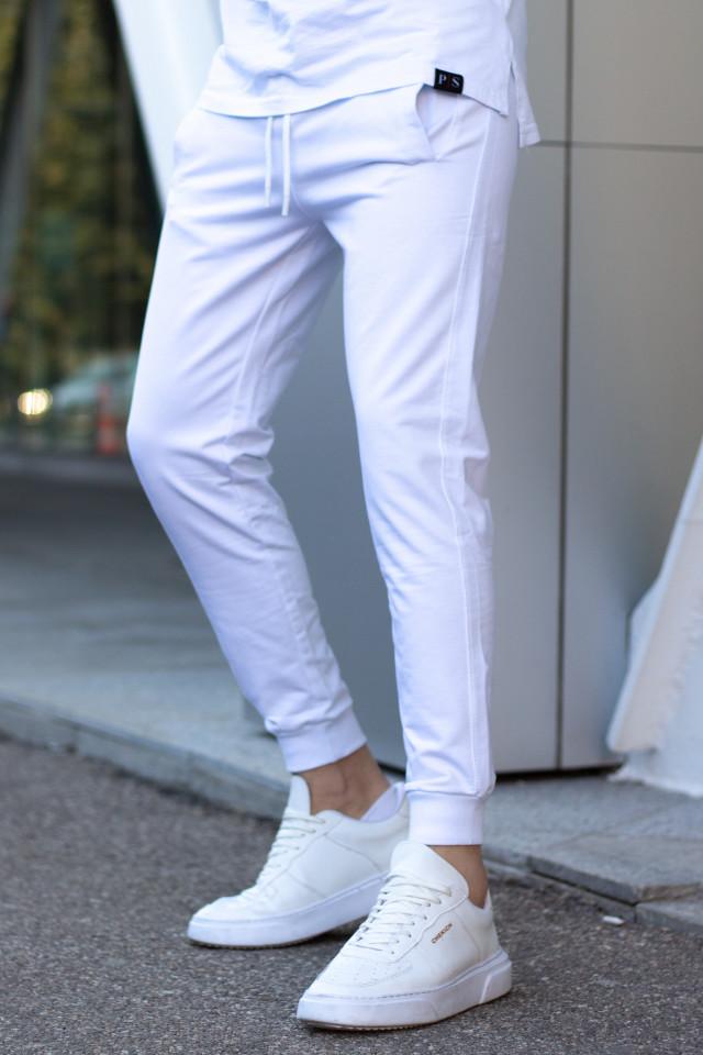 Pantaloni Bumbac Alb