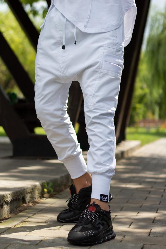 Pantaloni cu tur lasat AAR 2021 Alb