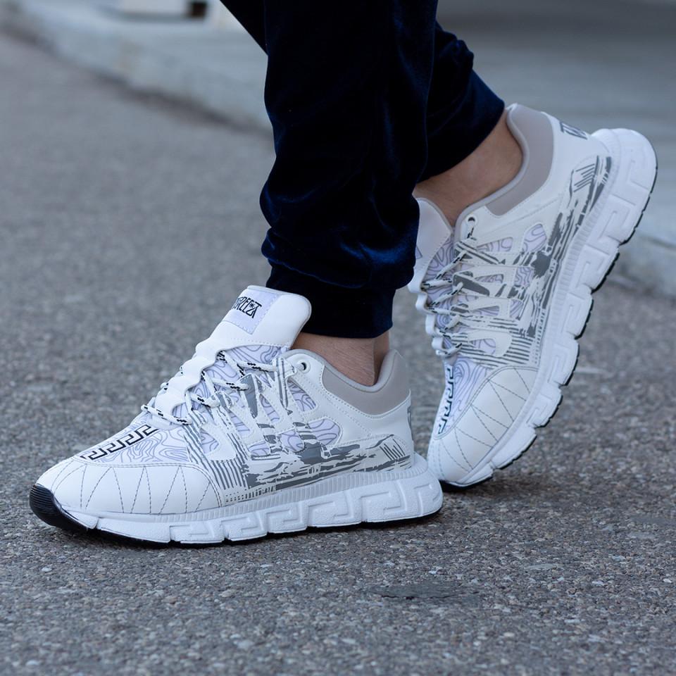 Sneakers Greka Alb-Gri