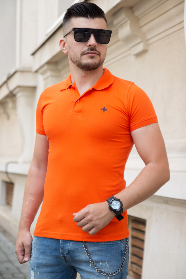 Tricou Polo Orange