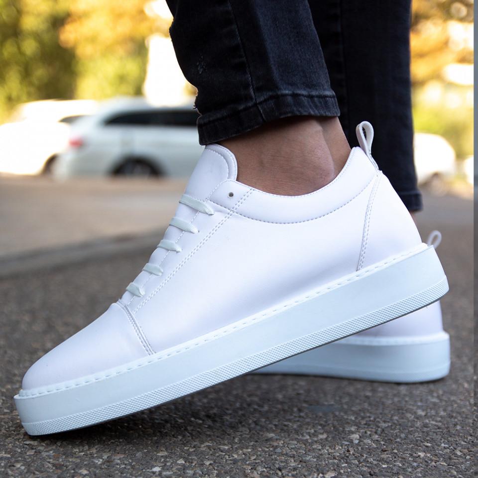 Adidasi Clean Alb