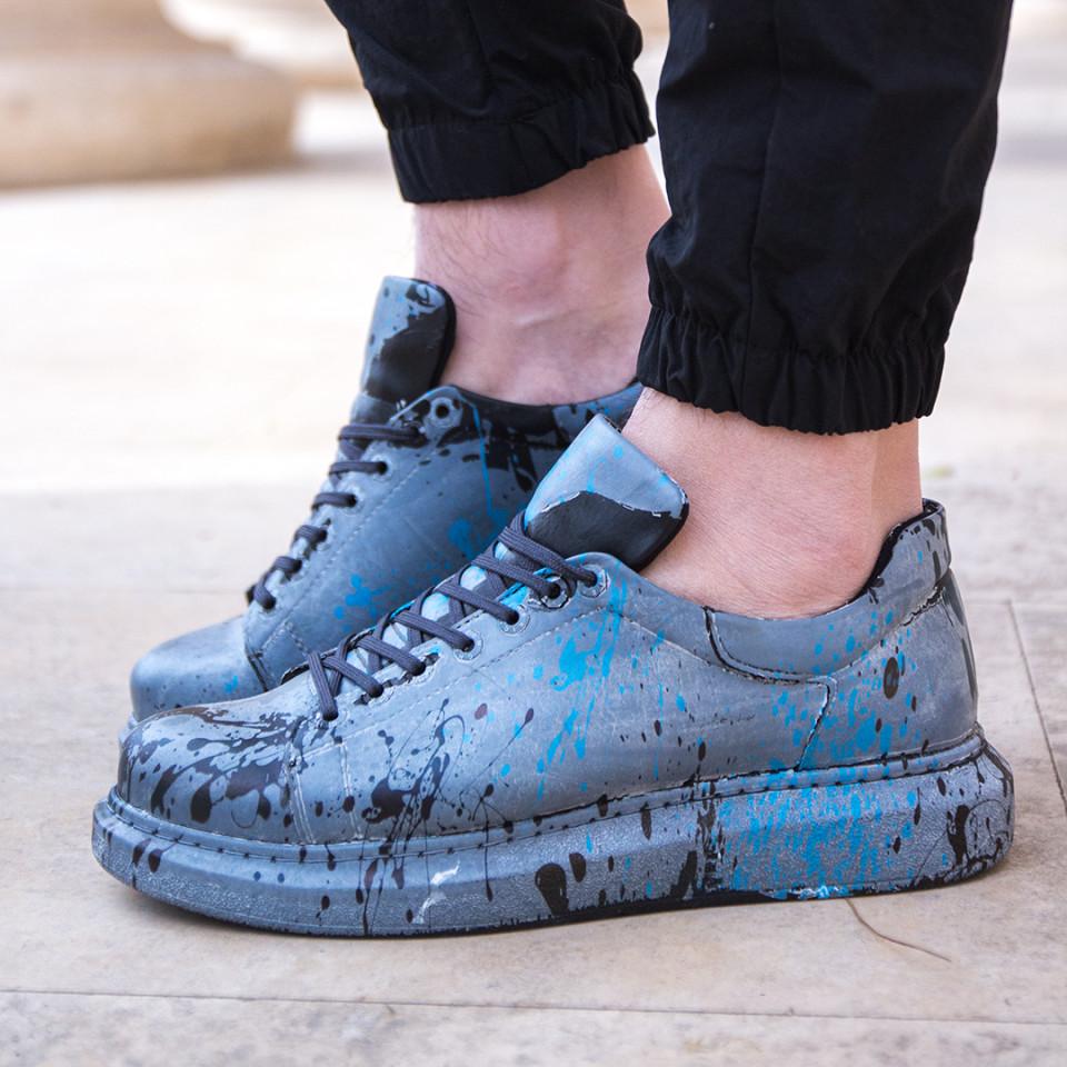 Adidasi Splash Gri-Albastru
