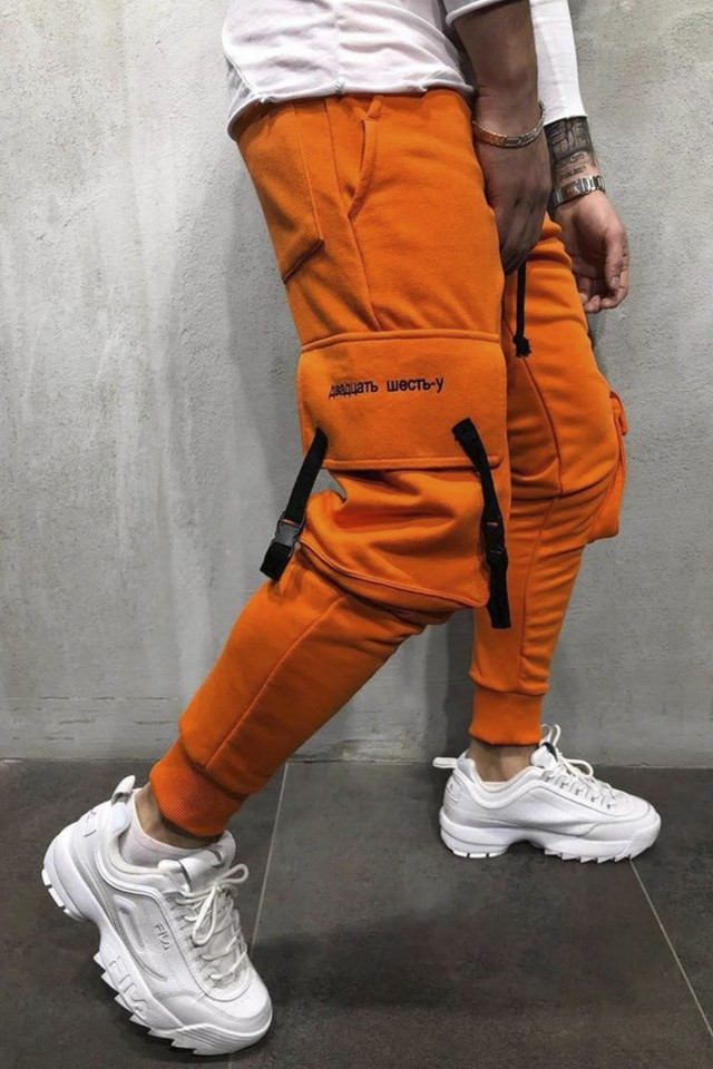 Pantaloni Bad7 Slim Orange