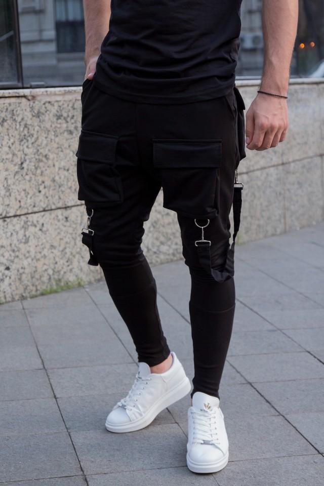 Pantaloni Exclusive cu semi-tur Negru EP1