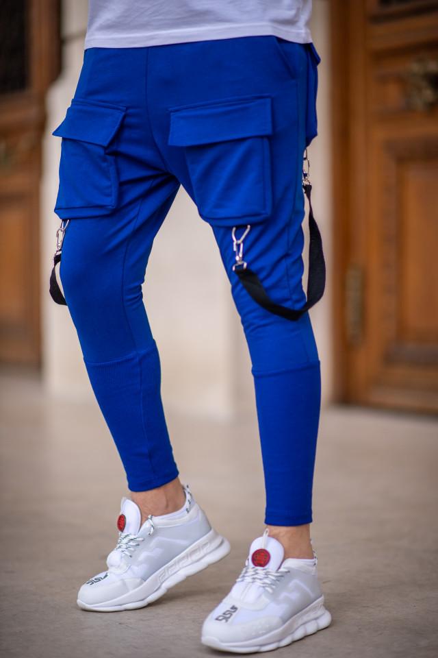 Pantaloni Exclusive cu tur Albastru EP6