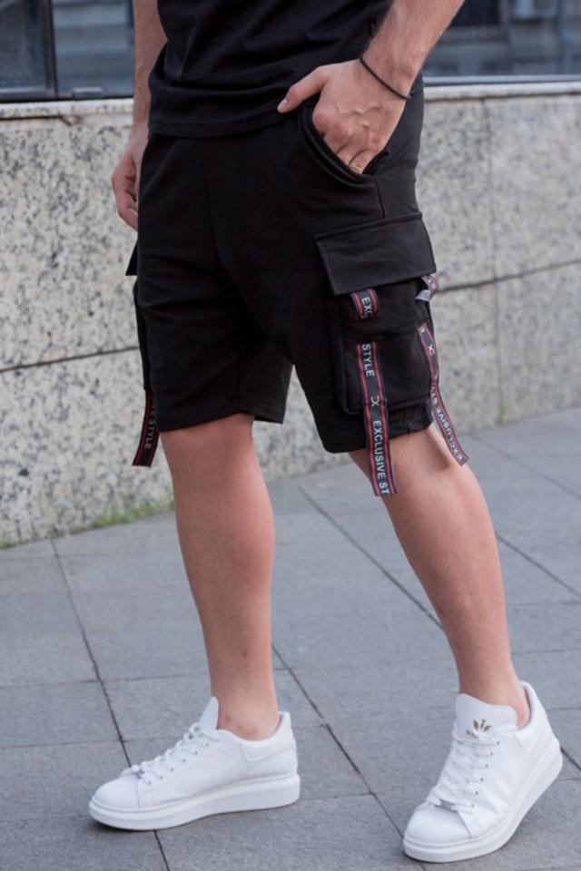 Pantaloni Scurti EX Rebel Negru